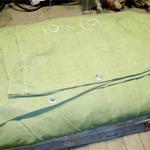 Полога, шторы, завесы и пр. ткани из брезента
